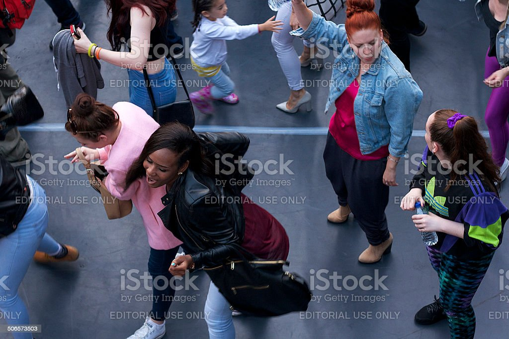 Young People Dacing in Camden stock photo