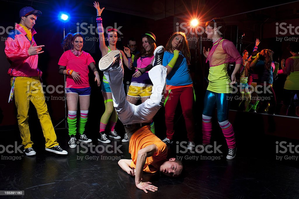 Young people dancing stock photo