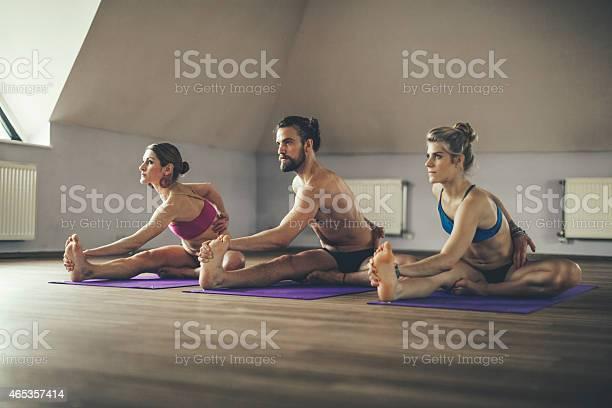 Junge Menschen Die Ausübung Yoga Stockfoto und mehr Bilder von 2015
