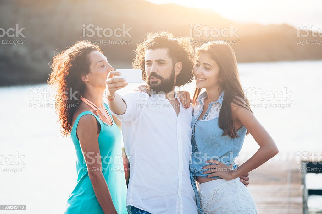 Young people having fun royalty-free stock photo