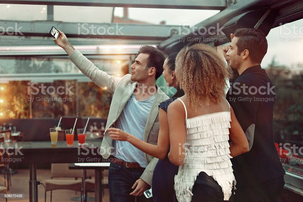 Young people in a club stock photo