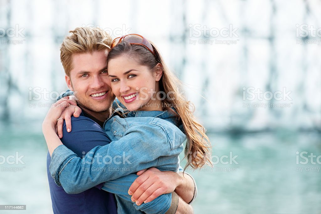 Young people in Brighton, England royalty-free stock photo