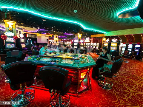 istock Young people in Casino at opening time 519918024