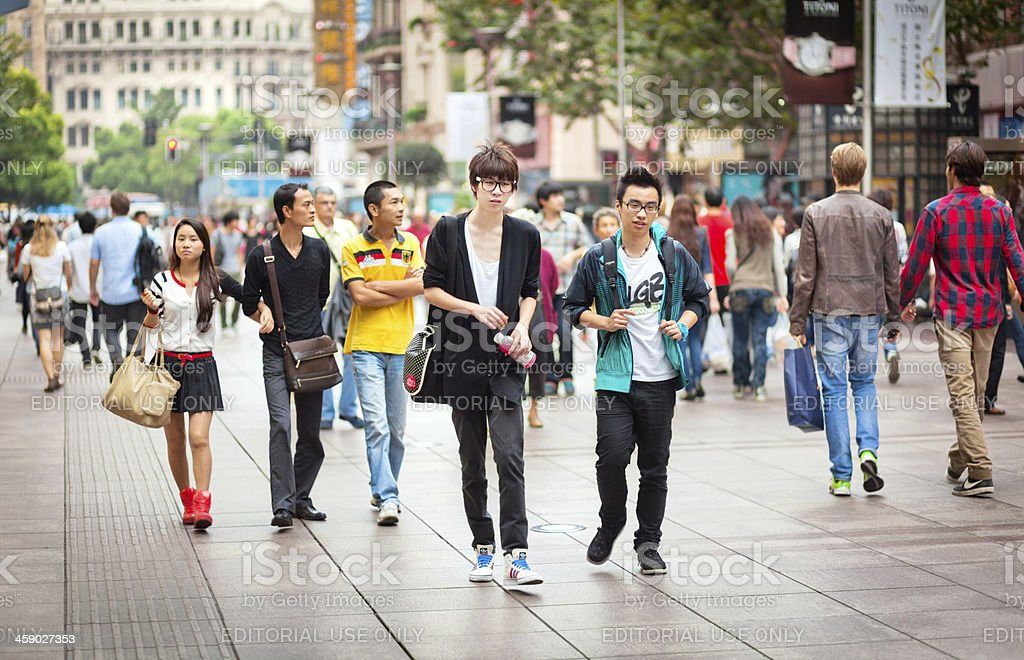 Young People in Shanghai royalty-free stock photo