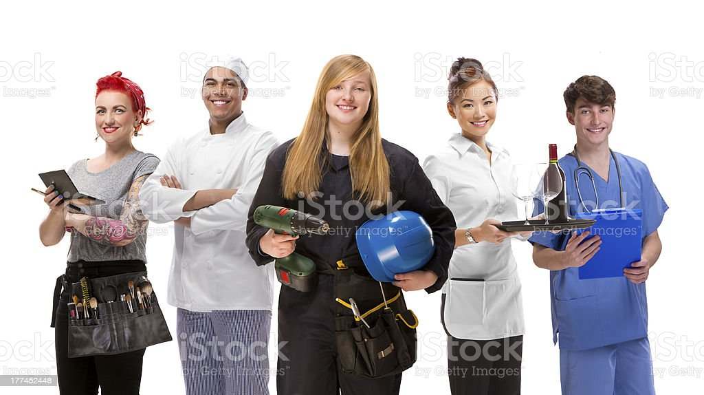 young people jobs group royalty-free stock photo