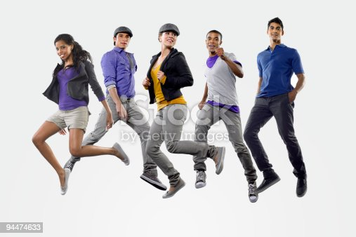 istock Young people jumping 94474633