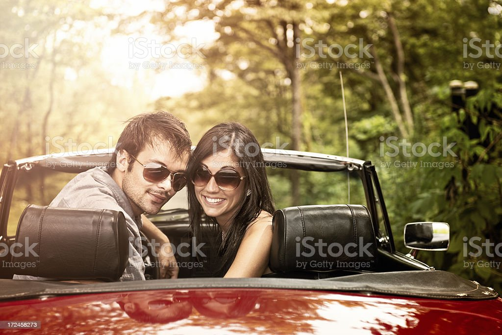Young people on the road royalty-free stock photo