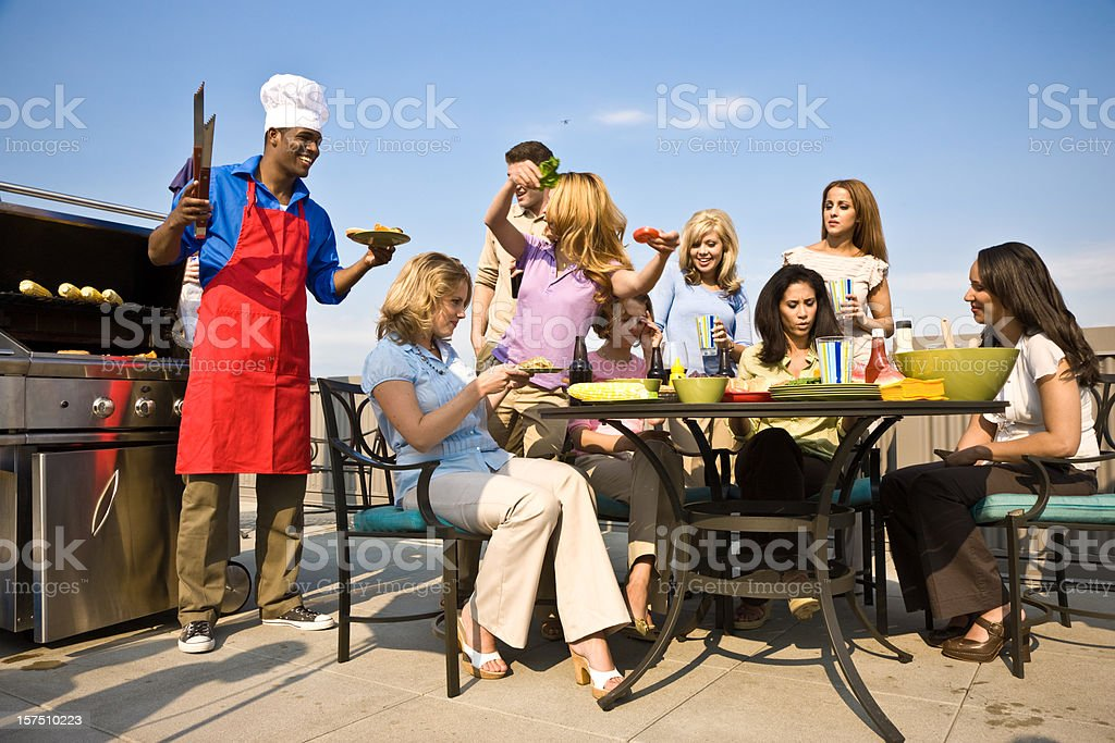 Young People Partying Together royalty-free stock photo