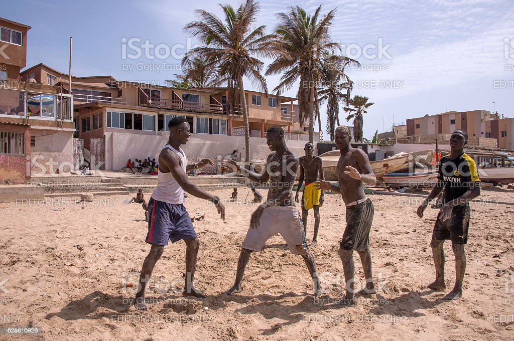 Young people practicing fight - foto de stock