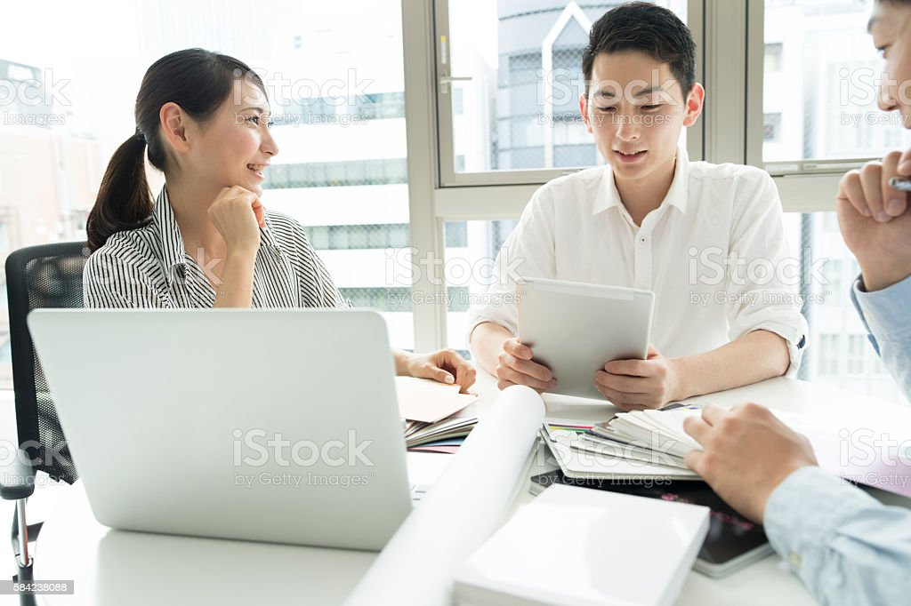 Young people who will lead the future. stock photo