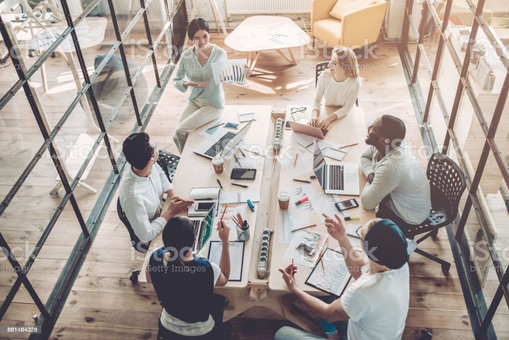 Young people work in modern office. royalty-free stock photo