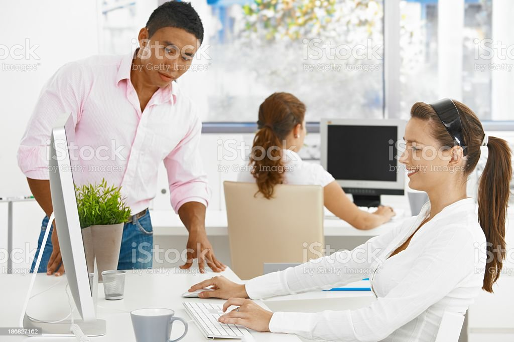 Young people working in office royalty-free stock photo