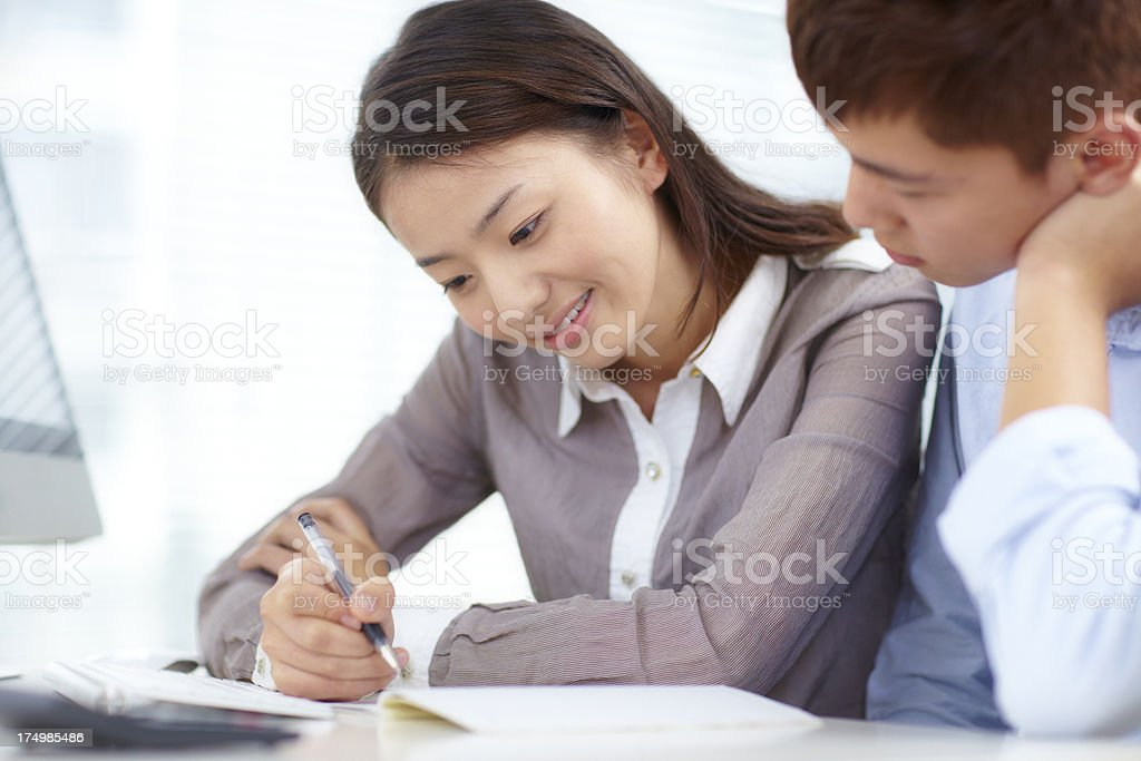 young people working together in the office royalty-free stock photo