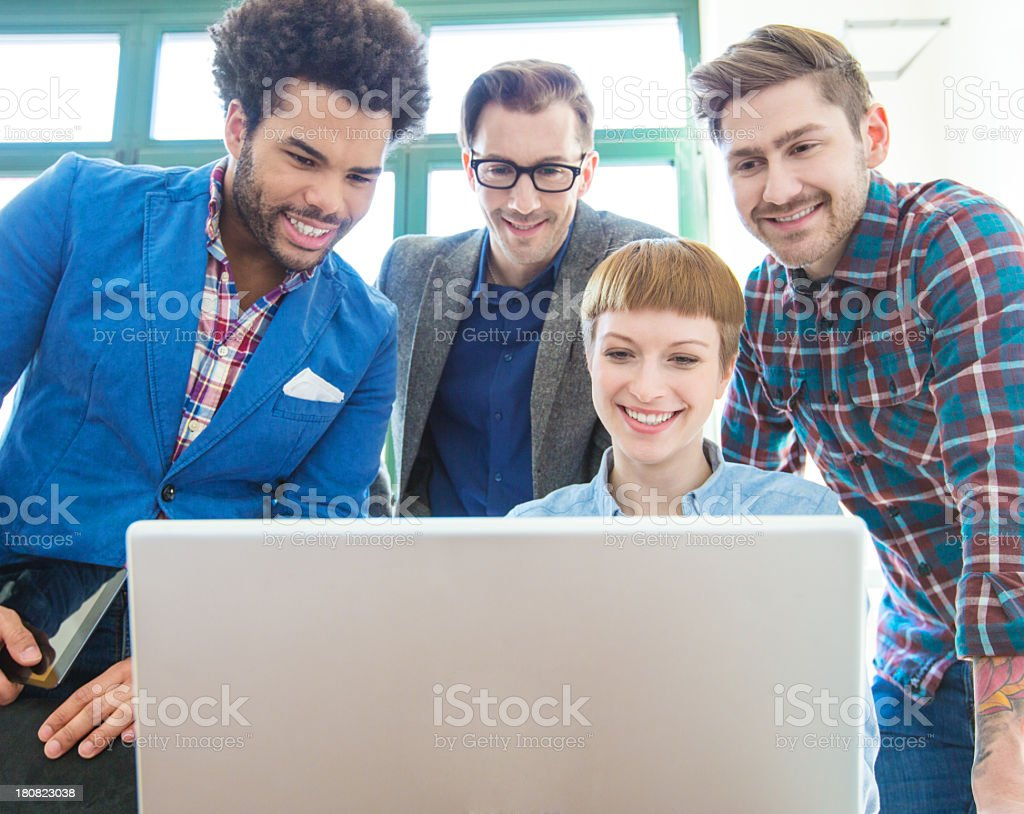 Young people working together stock photo