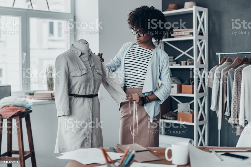 Young perfectionist. stock photo