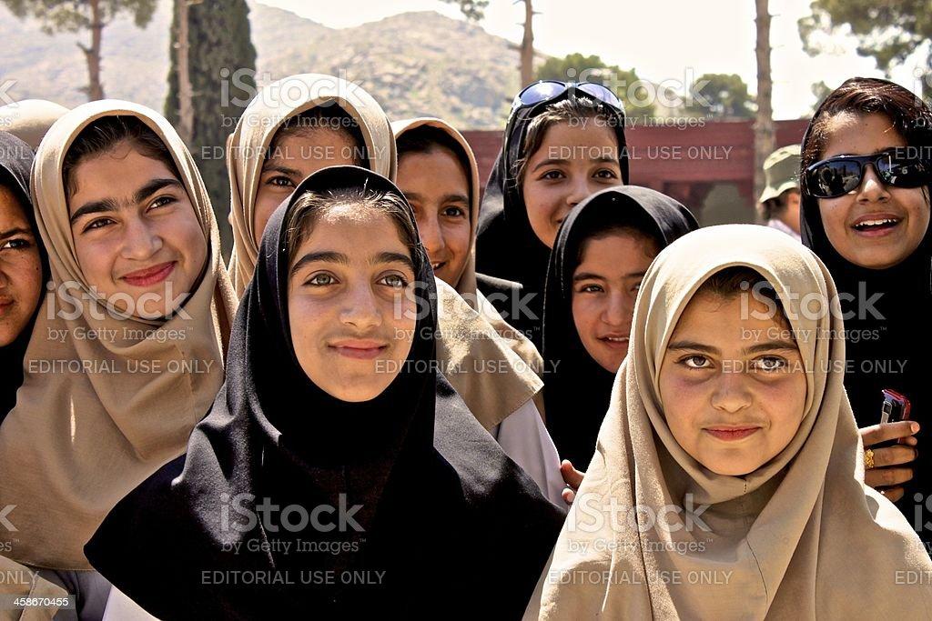 Persisches Mädchen aus Schwarz