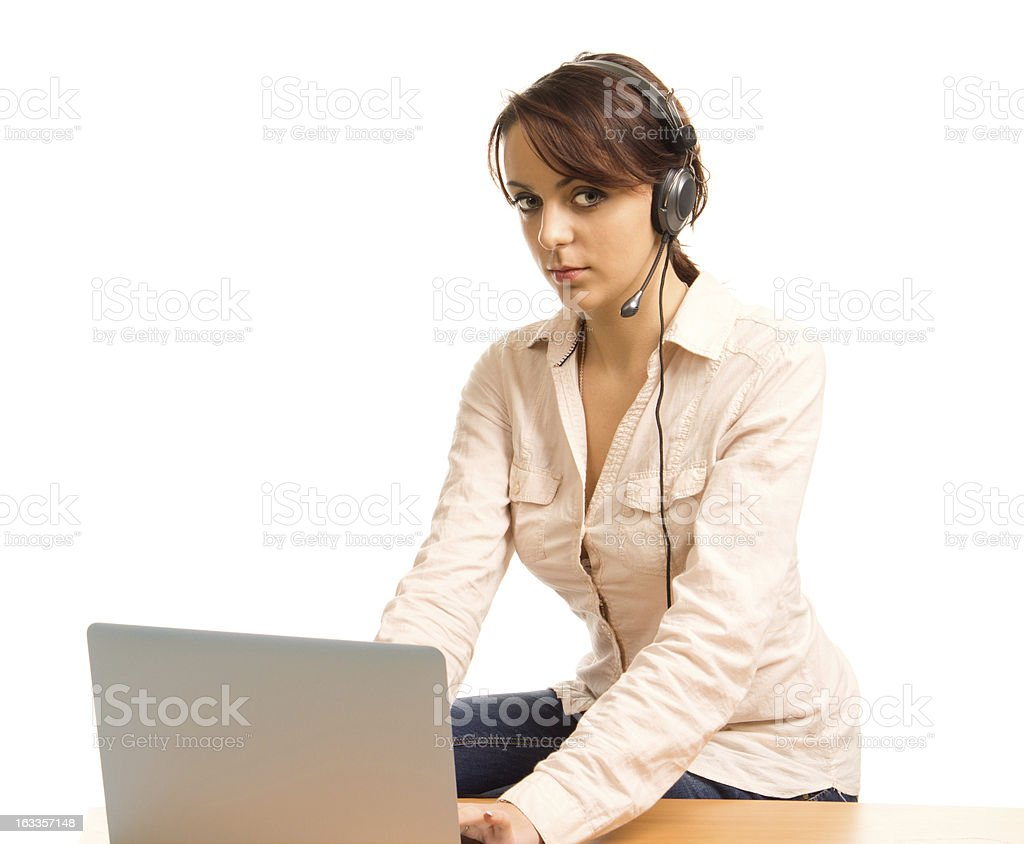 Young personal assistant working royalty-free stock photo