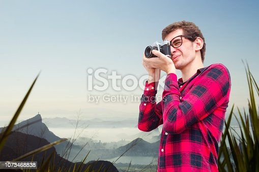 Young photographer at Rio de Janeiro