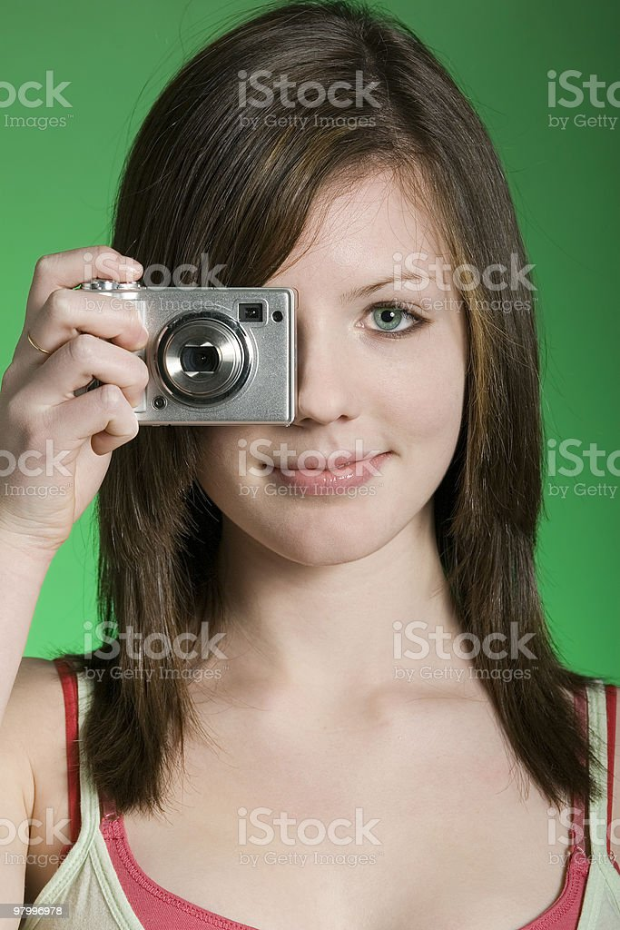 young photographer royalty free stockfoto