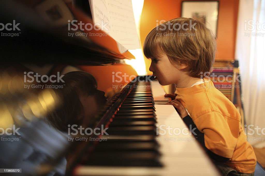 Young pianist royalty-free stock photo