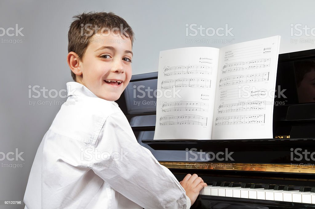 Young piano performer royalty-free stock photo