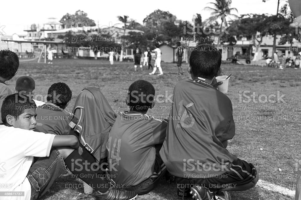 Young Player Watching the Game royalty-free stock photo