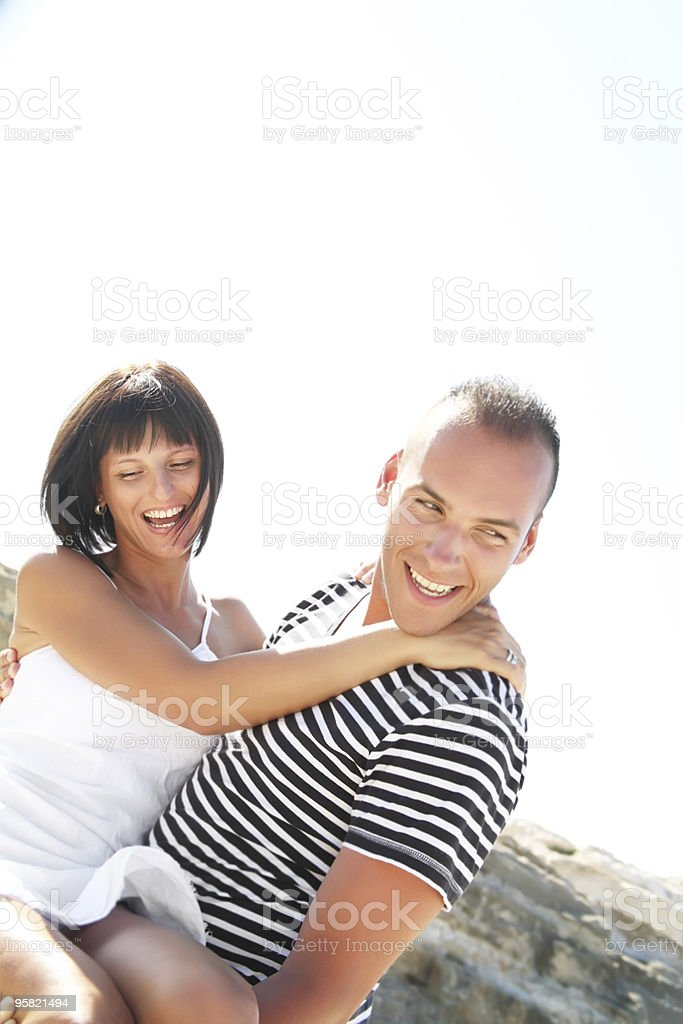 Young playful couple royalty-free stock photo
