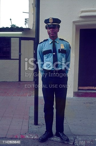 Los Angeles, California, USA, 1977. Young Police Lieutenant in Los Angeles.