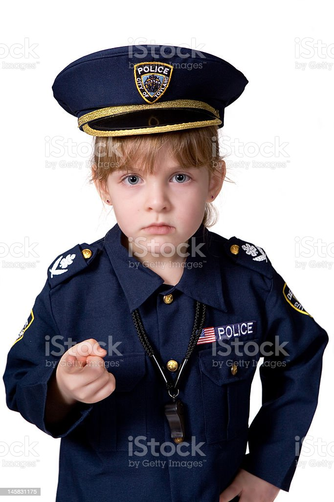 Young Police Woman stock photo