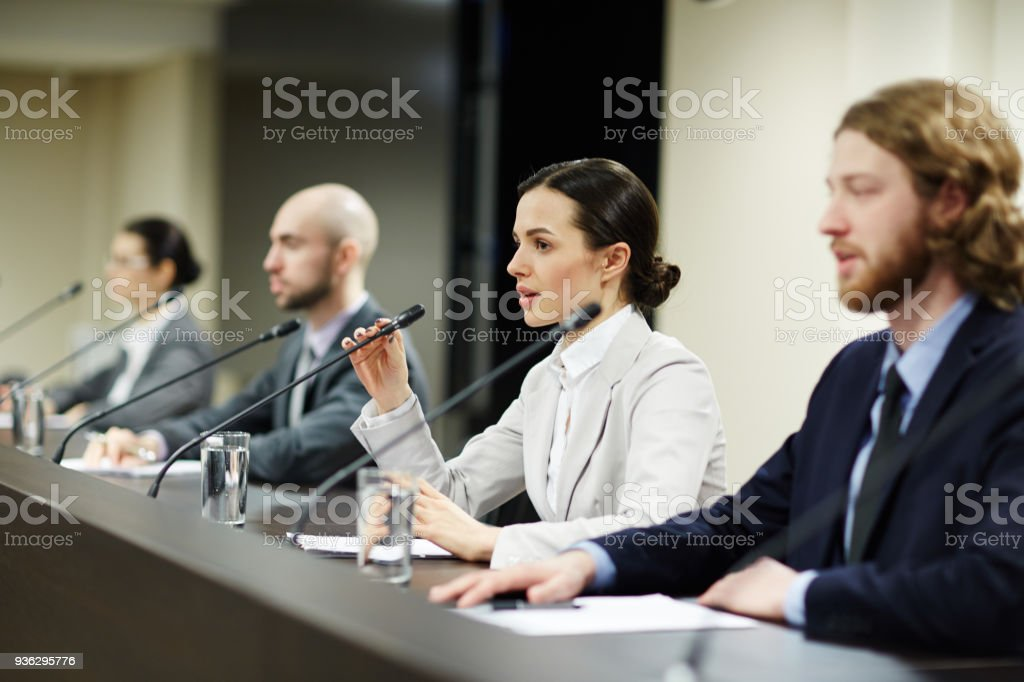 Young politicians stock photo