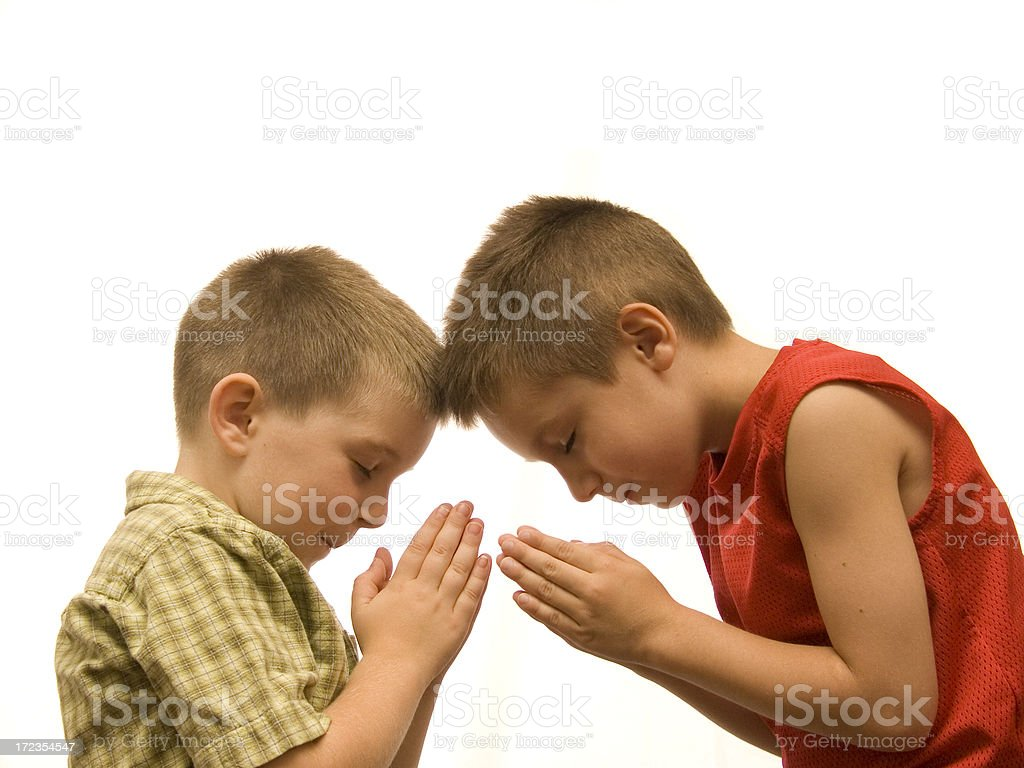 Young Prayers royalty-free stock photo