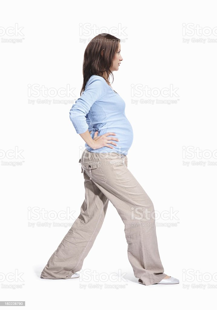 Young pregnant woman performing yoga royalty-free stock photo