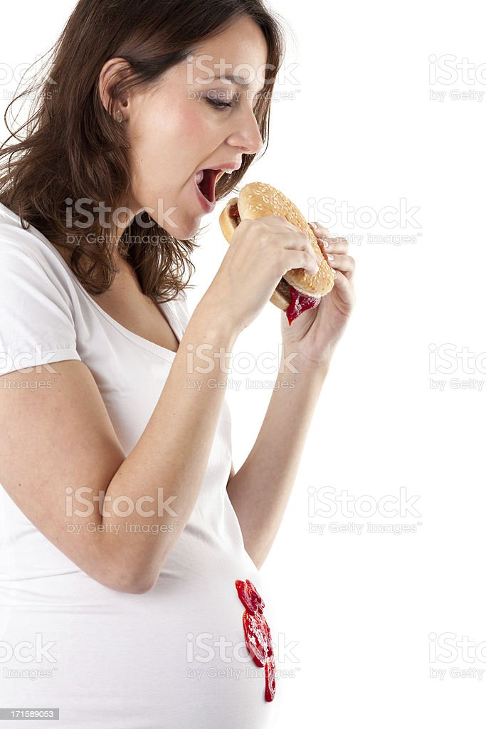 Young pregnant woman stock photo