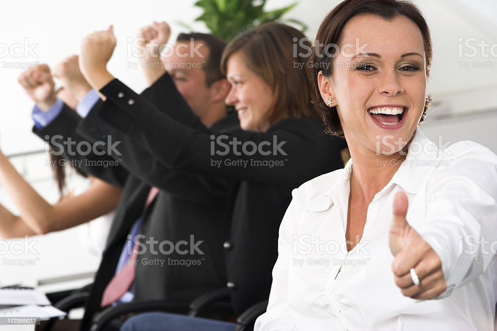 Young pretty female executive royalty-free stock photo