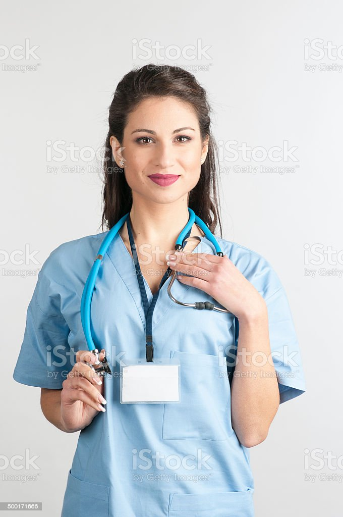 Young Pretty Female Nurse stock photo