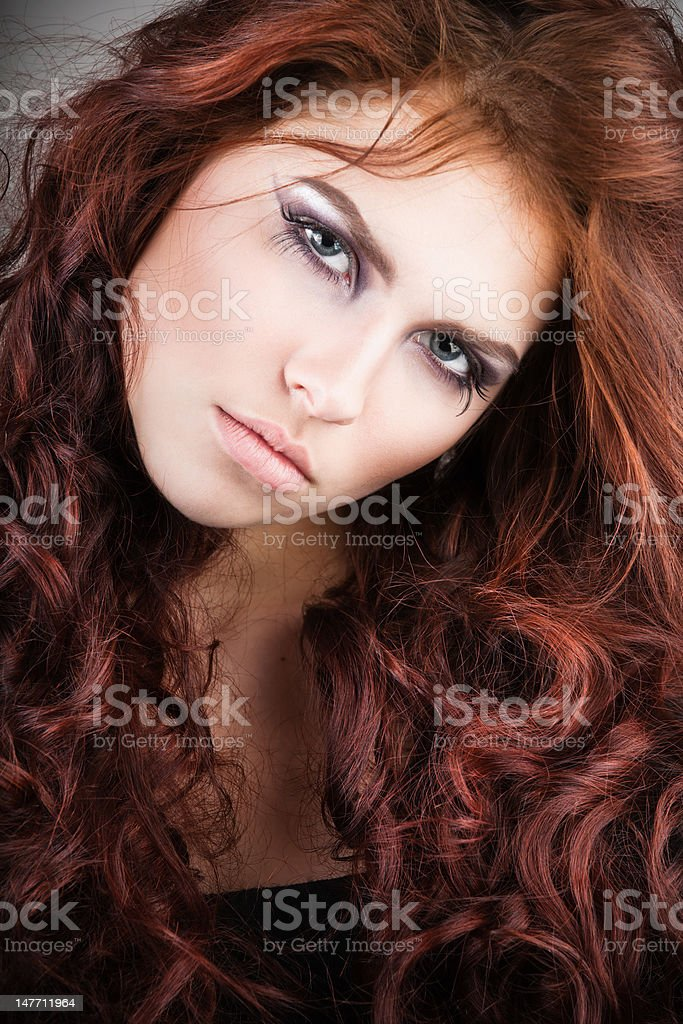 Young pretty girl portrait royalty-free stock photo
