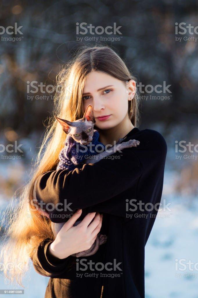 image d'une chatte de fille