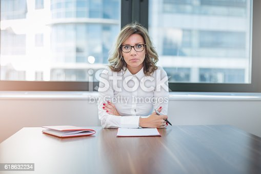 istock young pretty leader of small company , female CEO 618632234