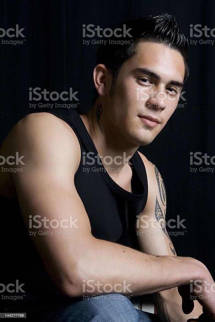 young pretty man stock photo