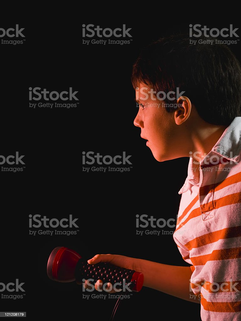 Young private detective royalty-free stock photo