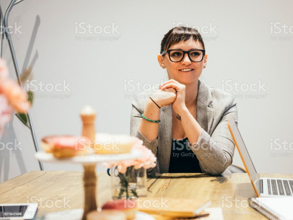 Young Professional at Work stock photo