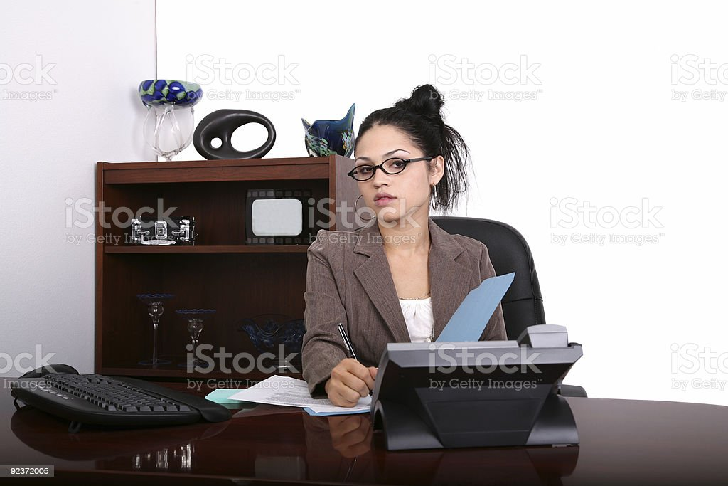 Young Professional at Work royalty-free stock photo