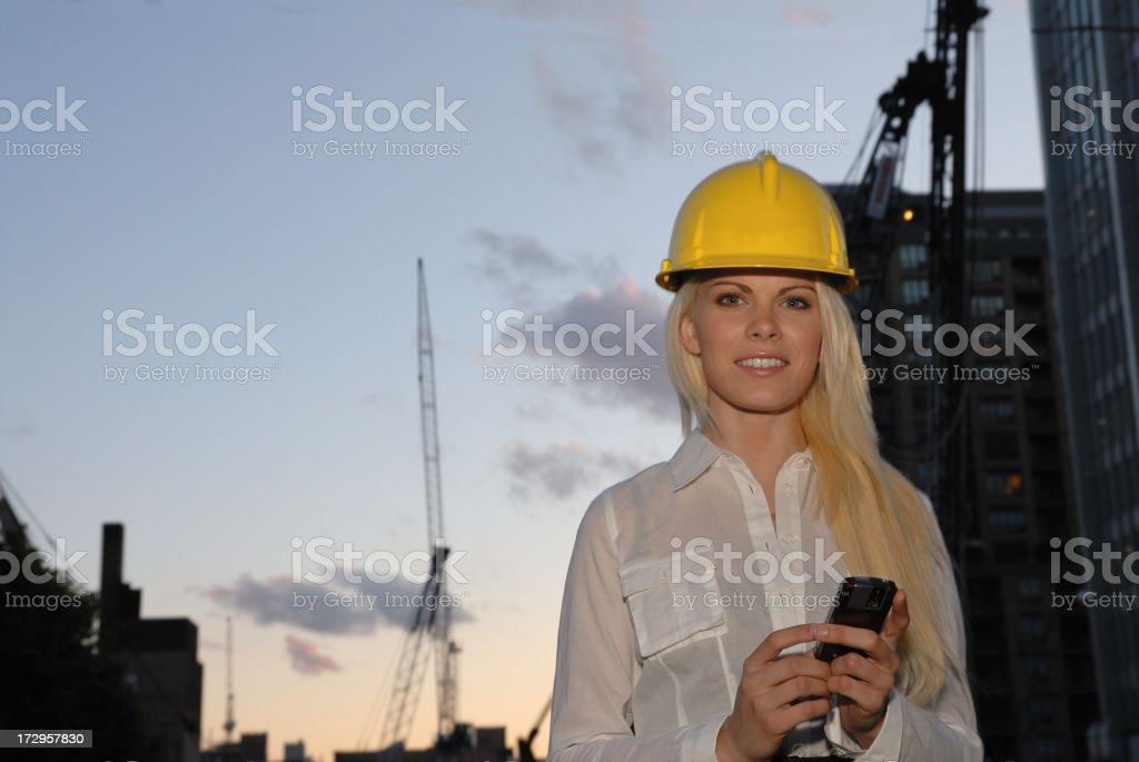 Young professional construction  office worker royalty-free stock photo