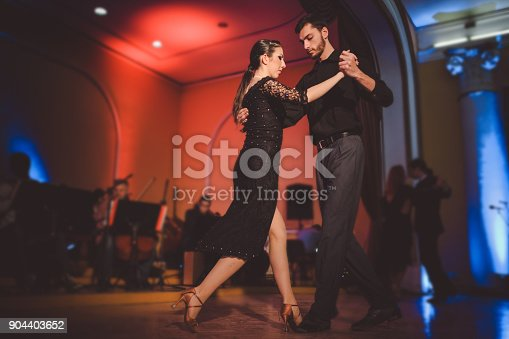 istock Young professional dancers performing with an orchestra 904403652
