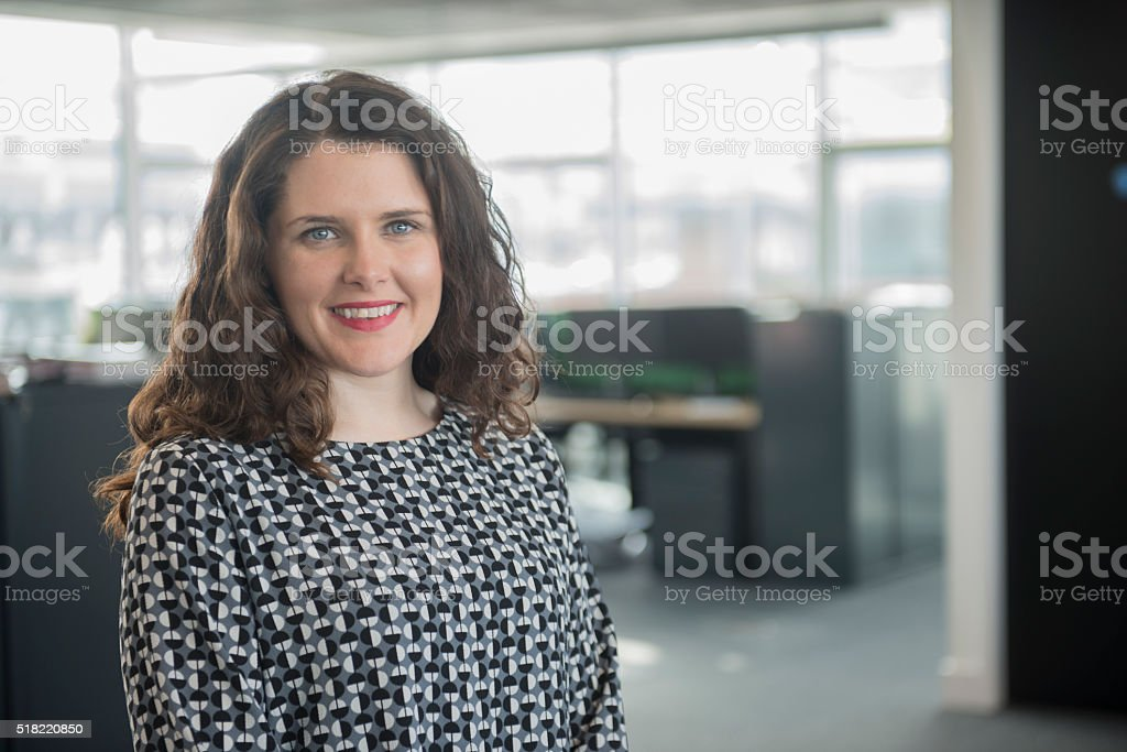 Young professional female in office royalty-free stock photo