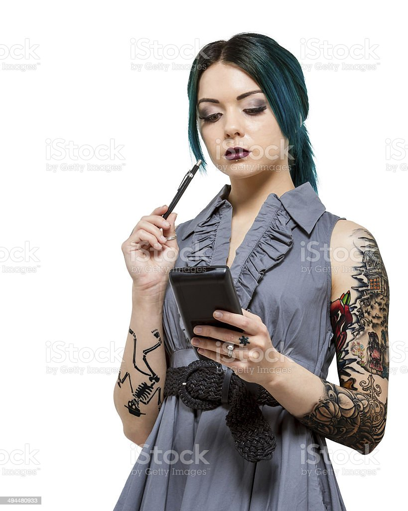 Young professional female in technical field stock photo