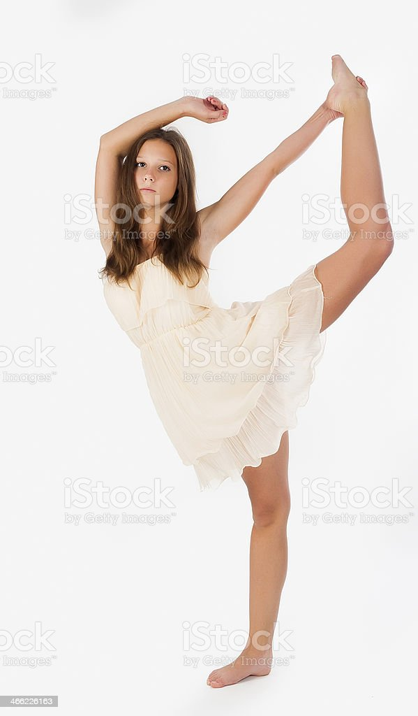 young professional gymnast royalty-free stock photo