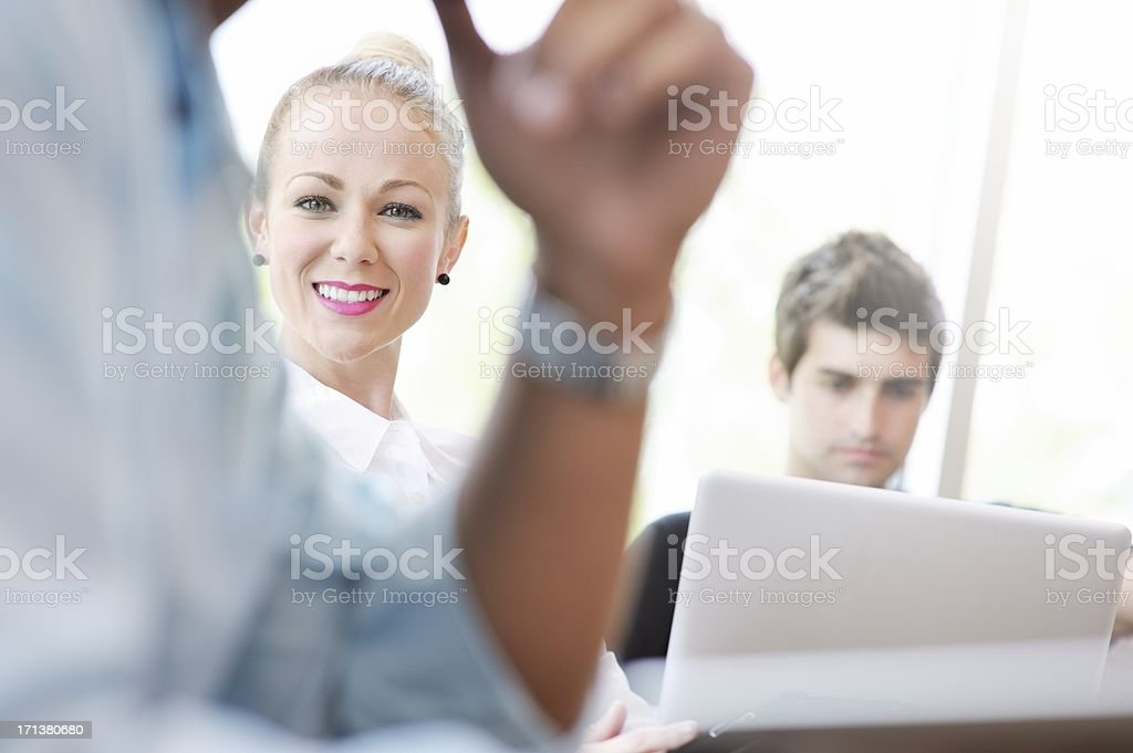 Young Professional People Using Computers royalty-free stock photo