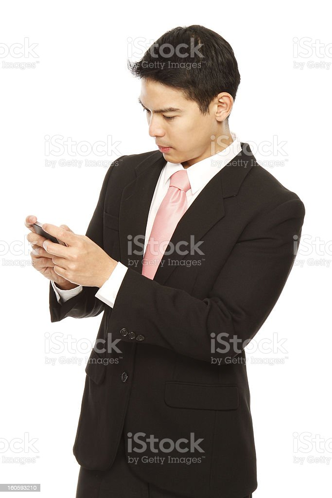 Young Professional Texting royalty-free stock photo