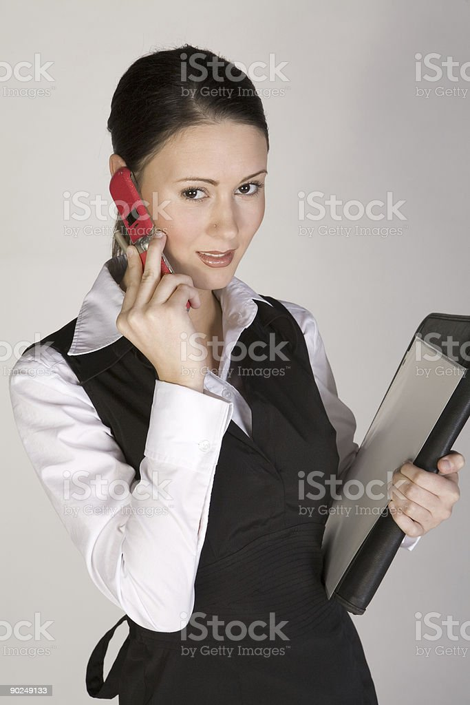 Young professional with cell phone royalty-free stock photo